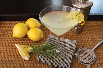 Lemon Thyme Vodka Three-Way